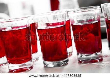 Bloody Brain Shot - stock photo