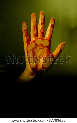 Bloody hand - stock photo
