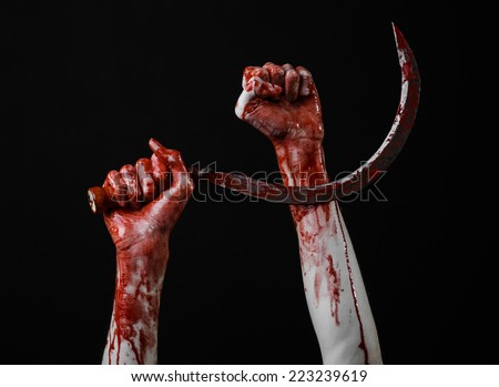 bloody hand holding - photo #36