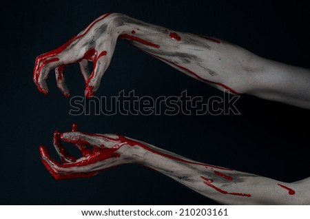 Bloody hands zombie demon