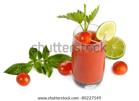 Bloody Mary isolated on white background