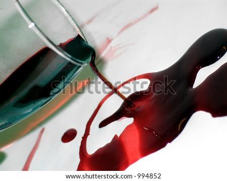 bloody red wine - stock photo