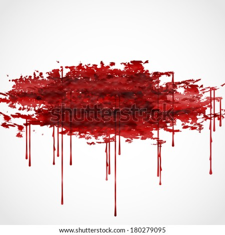 Bloody Watercolor Spots. - stock photo
