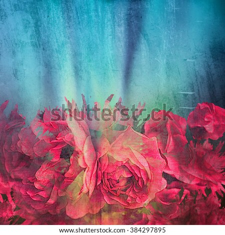 blooming roses art background