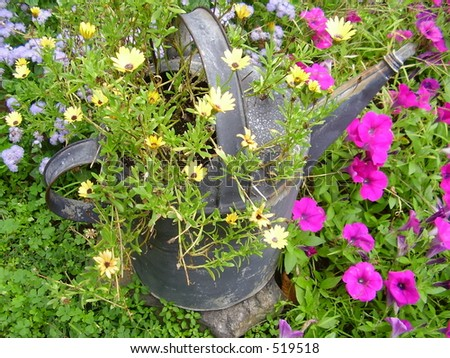 Blooming watering can