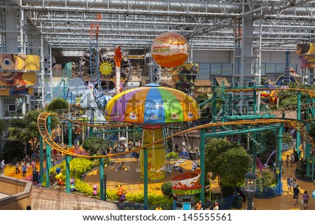BLOOMINGTON, MN - JULY 06,  - Mall of America on July 06, 2013  in Minnesota. Only Disney World in Orlando Florida has more visitors per year than the Mall of America.