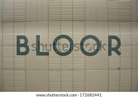 Bloor station sign - stock photo