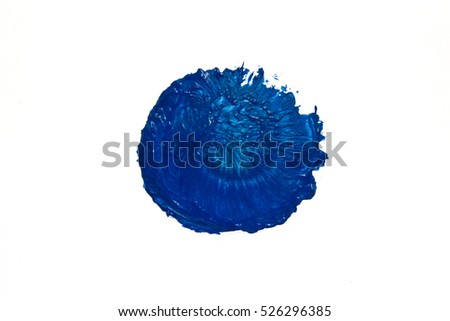 Blot, brushstroke of blue paint