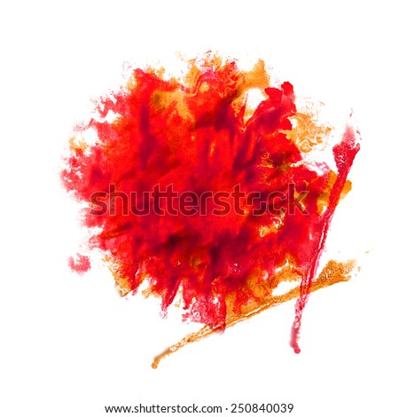 Blot divorce The red illustration artist of handwork is isolated on white background handicraft