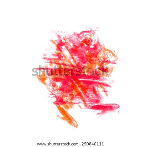 Blot divorce The red illustration artist of handwork is isolated on white background (2) handicraft