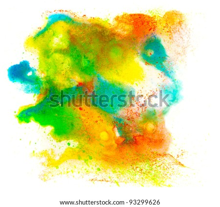 blot spot stain color watercolor texture isolated on a white background - stock photo