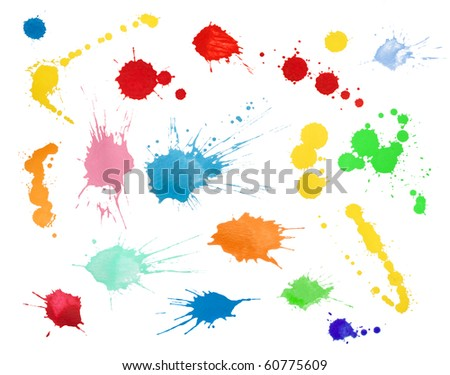 Blots collection - stock photo