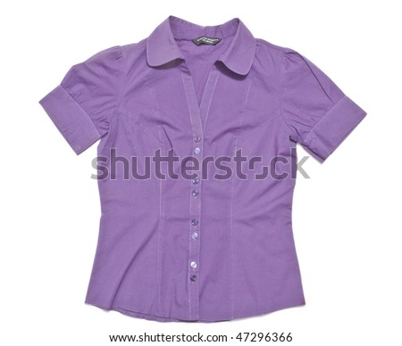 blouse isolated on white (with clipping path) - stock photo