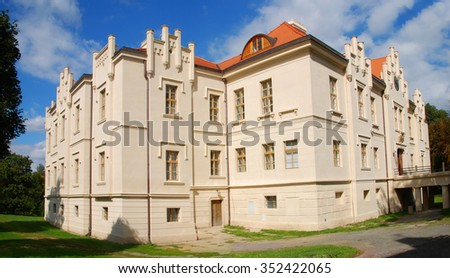 Blovice chateau near Pilsen Czech Republic