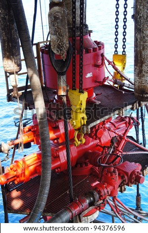 Blow Out Preventer (BOP) for Offshore Drilling Rig - stock photo