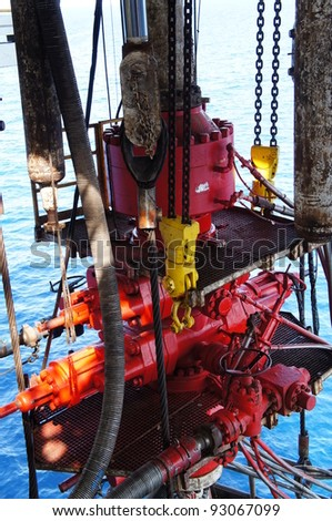 Blow Out Preventer for Offshore Drilling Rig - stock photo