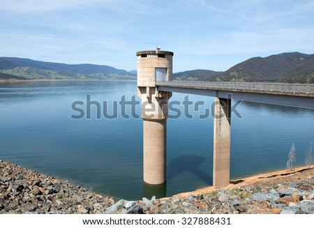 Blowering Dam, near Tumut, in New South Wales, Australia