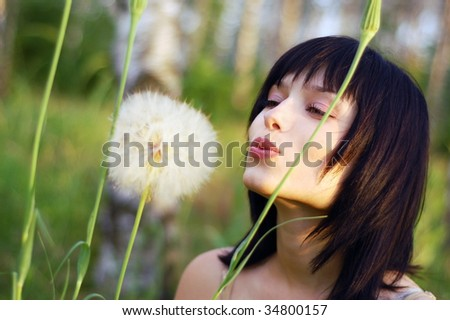Blowing away - stock photo