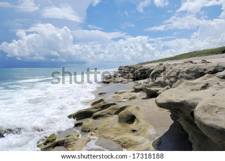 Blowing Rocks Preserve, FL - stock photo