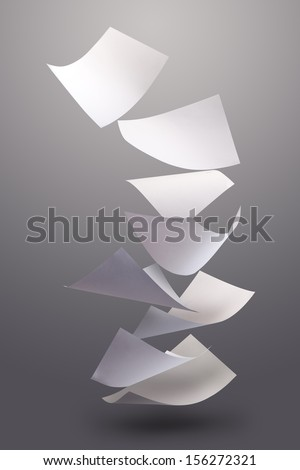 Blown Paper - stock photo