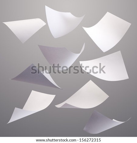 Blown Paper isolated - stock photo
