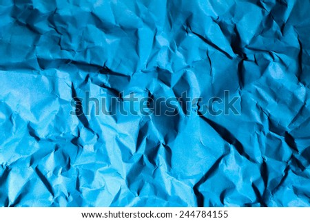 blub crumpled paper texture for background - stock photo