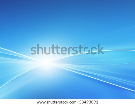 Blue abstract - stock photo