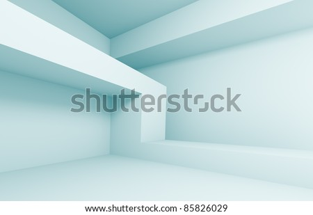 Blue Abstract Architecture Background - stock photo