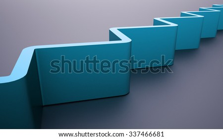 Blue abstract architecture background structure rendered