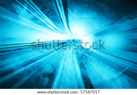 Blue abstract backgraounds - stock photo