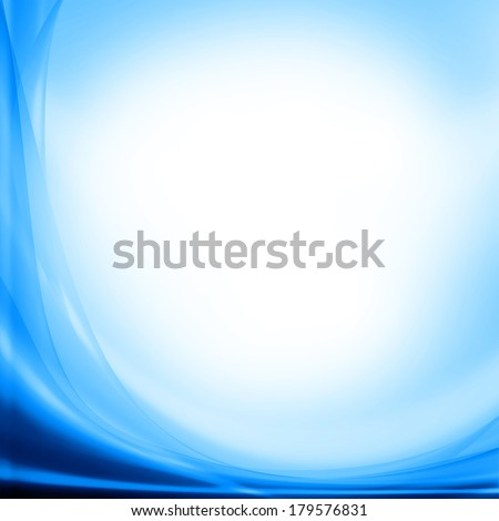 blue abstract background and white copy space - stock photo