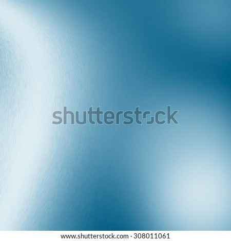 blue abstract background chrome metal texture white decorative lights blur - stock photo