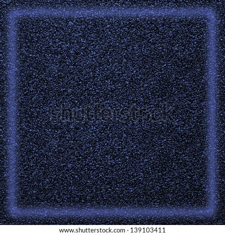 blue abstract background, grainy rough pattern texture with light frame