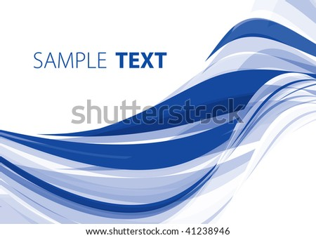 Blue abstract background. Rasterized vector