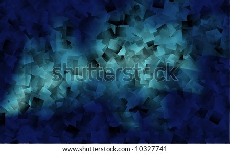 Blue abstract background resembling lots of papers - stock photo