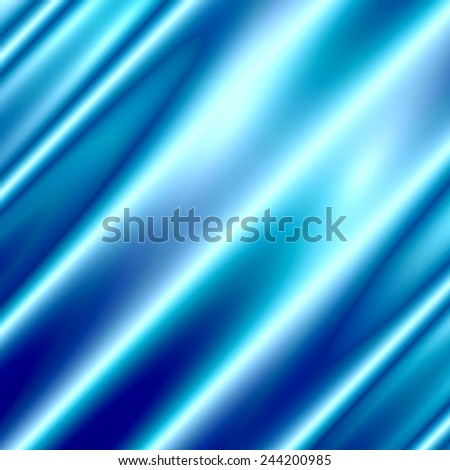 Blue Abstract Background - Silk Texture - Modern Illustration - Luxurious Wallpaper Design - Velvet or Drape - Glowing Light Effect - Celebration Concept - Dynamic Water Like Wave - Smooth Metallic - stock photo