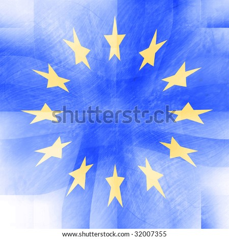 blue abstract background with an integrated european flag