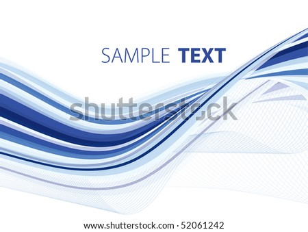 Blue abstract background with copy space. Rasterized vector