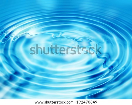 Blue abstract background with water ripples - stock photo