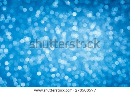 Blue abstract bokeh background - stock photo