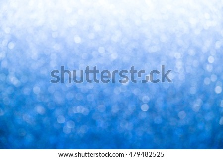 Blue Abstract bokeh lighting background