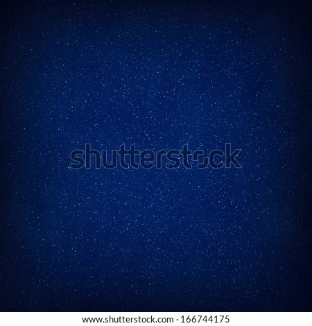 Blue Abstract Christmas Winter Background with Falling Snow - stock photo