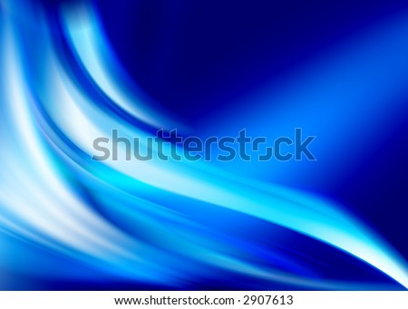 blue abstract composition - stock photo