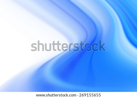 Blue Abstract Curves Background - stock photo