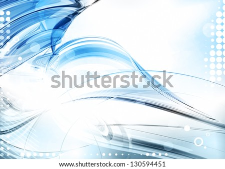 Blue abstract digital background. Rasterized version - stock photo