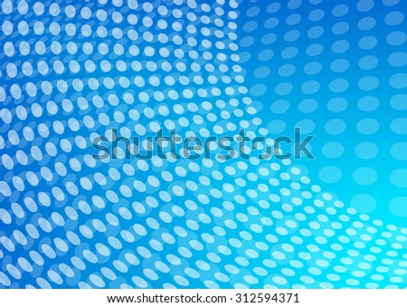 Blue Abstract Dotted - Raster Version - stock photo