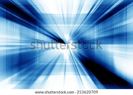 Blue Abstract Dynamic Art Futuristic Background Design - stock photo