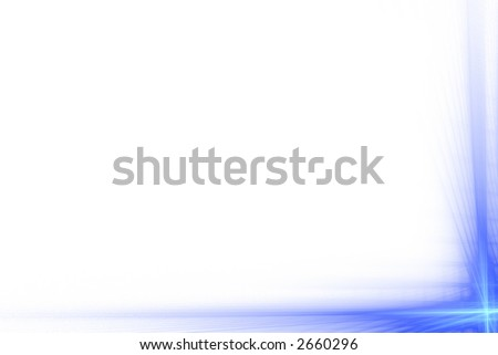 Blue abstract flash frame over white with copyspace - stock photo