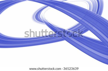 Blue abstract fractal on white background