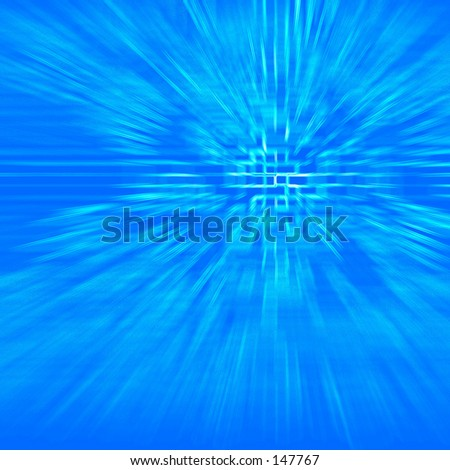 Blue abstract futuristic effect - stock photo
